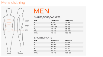 Mens Sizing Guide